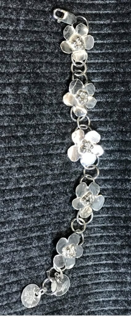 BRACELETS Such as my Blossom Bracelet, made for over 20 years. You'll see them all around Yakima and Washington state.